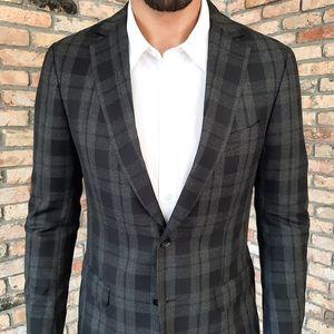 New Z Zegna Wool Plaid Blazer Flannel NWOT